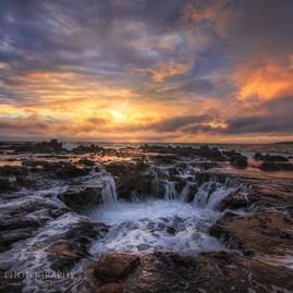 Kauai Sunrise Lava Drain