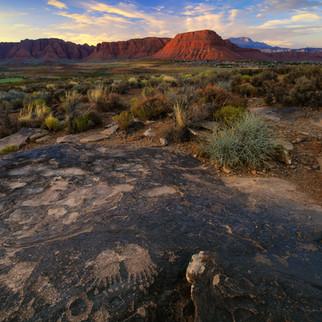 Anasazi Petroglyph Sunset