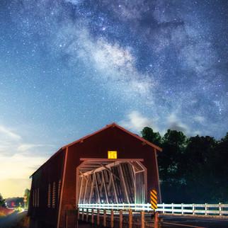 Shimanek Bridge Milky Way