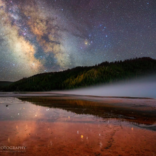 Milky Way Over Grand Prismatic Spring