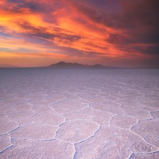 Bonneville Salt Flats Sunset