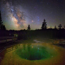 Morning Glory Pool Milky way