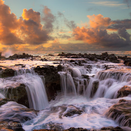 Kauai Ocean Waterfall