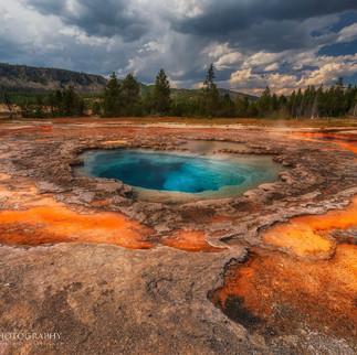 Blue Geyser Yellowstone