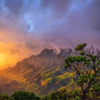 Pu'u O Kila Lookout Sunset