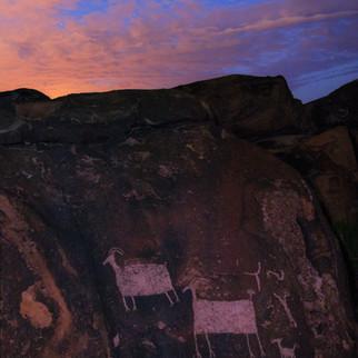 Anasazi Petroglyph Twilight