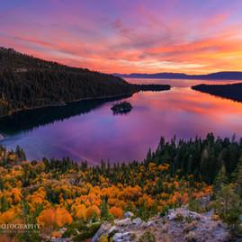 Sunrise Fall Colors Emerald Bay