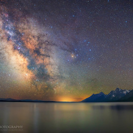 Jackson Lake Milky Way