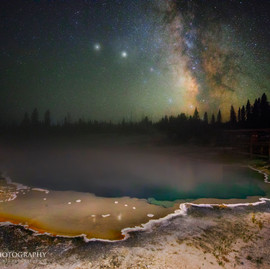 Opal Pool Milky Way Yellowstone