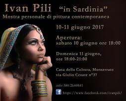 "IVAN PILI: solo exhibition ""in Sardinia"""