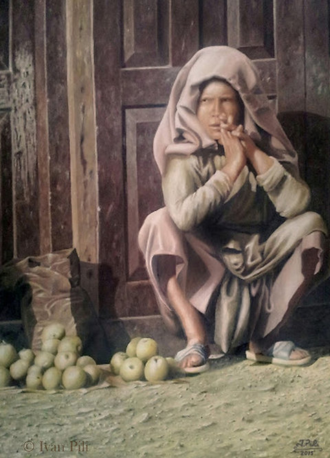 THE APPLE SELLER | Dipinto originale di Ivan Pili