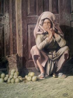 Ivan Pili - Venditrice di mele -