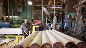 We create lumber to be sold from the remaining log cores.