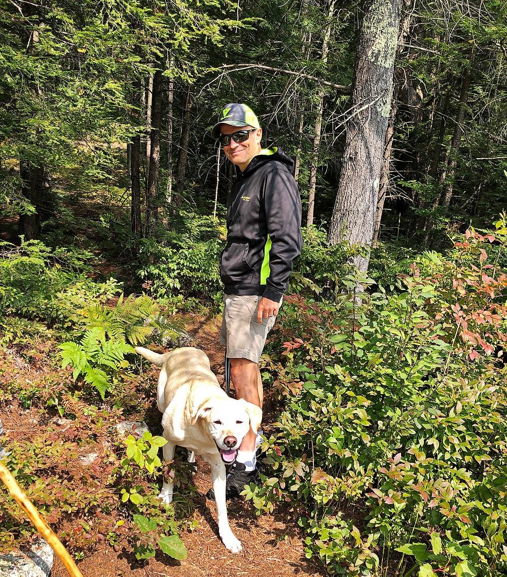 Tim Cusick of BaseCamp hiking as per training plan