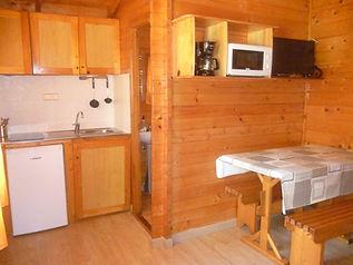 salon-cocina cabaña grande