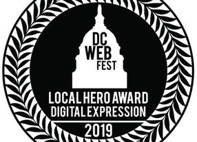 Joey Fama Wins DC Webfest's Local Hero Award