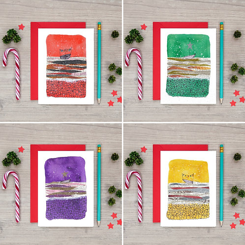 Pack of 8 A6 Christmas cards
