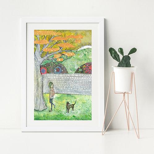 'Woof' -Fine Art Giclee Print