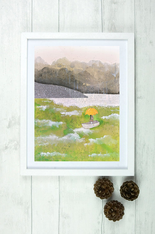 'My Heart's Somewhere Far Away' -Fine Art Giclee Print