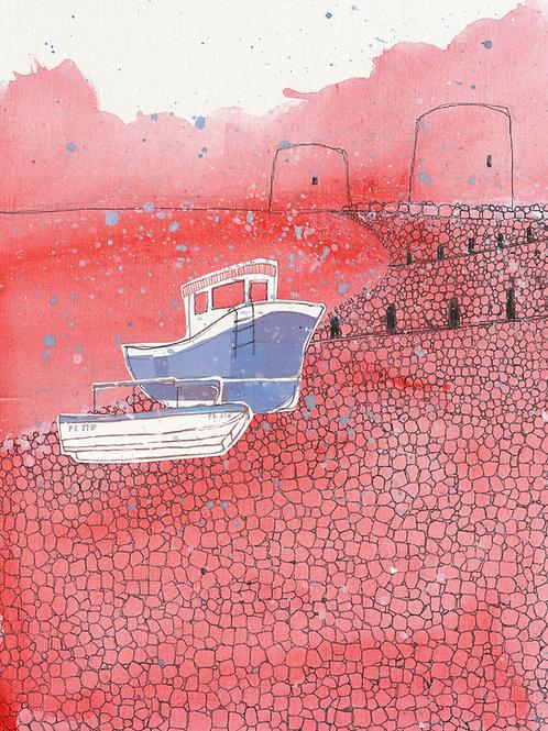 'Fisherman's Beach, 7pm' -Fine Art Giclee Print