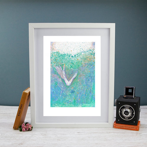 'Down There the Sea Folk Live' -Fine Art Giclee Print