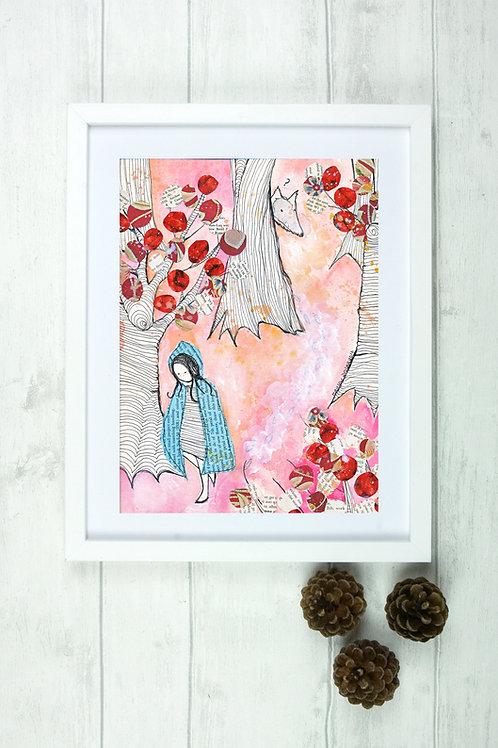 'Red Riding Hood'- Fine Art Giclee print