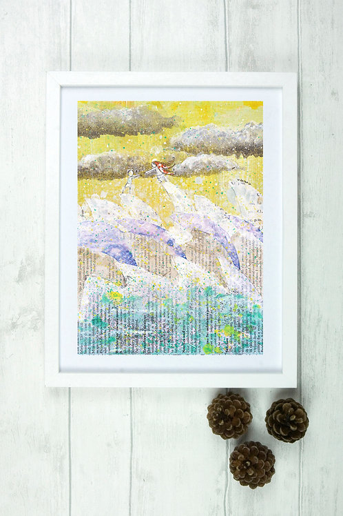 'We Have No Boat, Still, We Float' -Fine Art Giclee Print