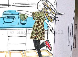 Jayne, in her kitchen