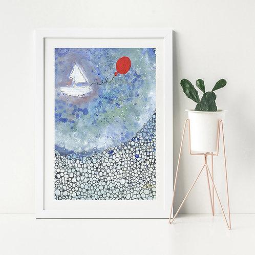 'Red Balloon'- Fine Art Giclee print