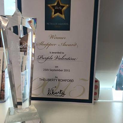 the liberty shopper retailer award