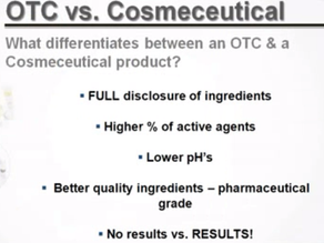Over the counter Vs Cosmeceuticals