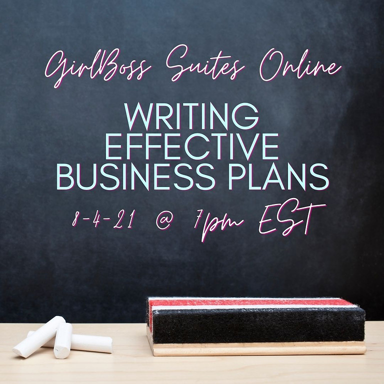 GBS Online: Writing Effective Business Plans