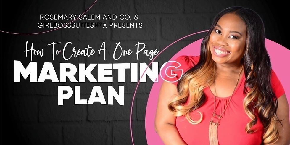 How to Create A Marketing Plan!