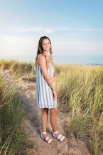 Senior Girl Beach Grass