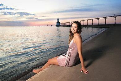 Senior Girl Lighthouse Beach
