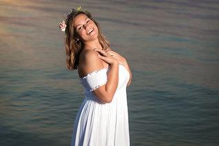 Senior Girl Flower Crown Beach