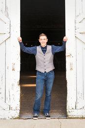 Senior Boy Barn doors
