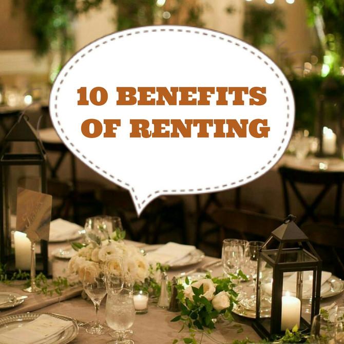 10 Benefits of Renting