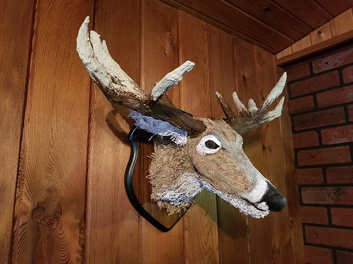 Mounted Burlap Buck