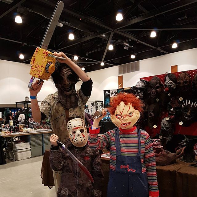 Horror Family #leatherface #chucky #jason #horrorcon