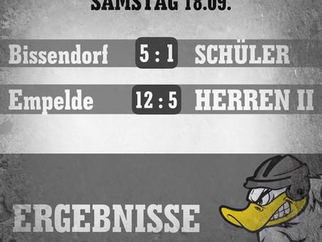 4/4 Siege am Sonntag - zwei Niederlagen am Samstag für die Enten