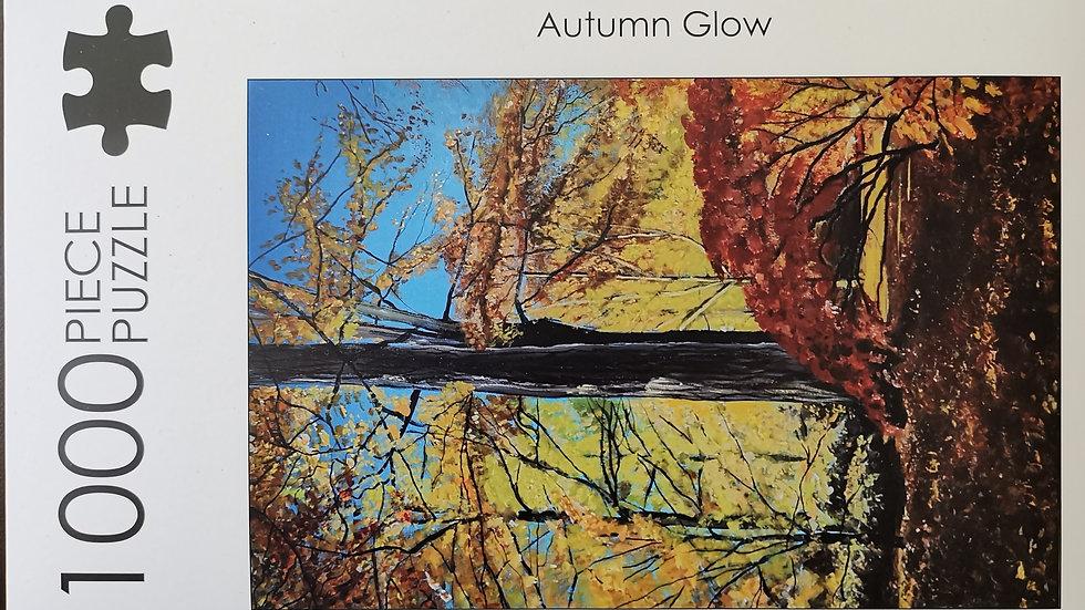 1000 Piece Jigsaw Puzzle of Original Artwork entitled Autumn Glow