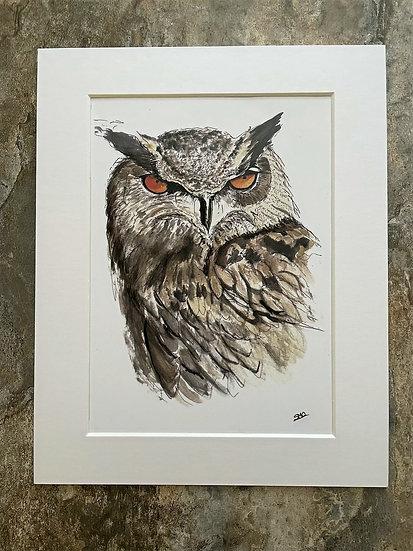 Eagle Owl A5 Print