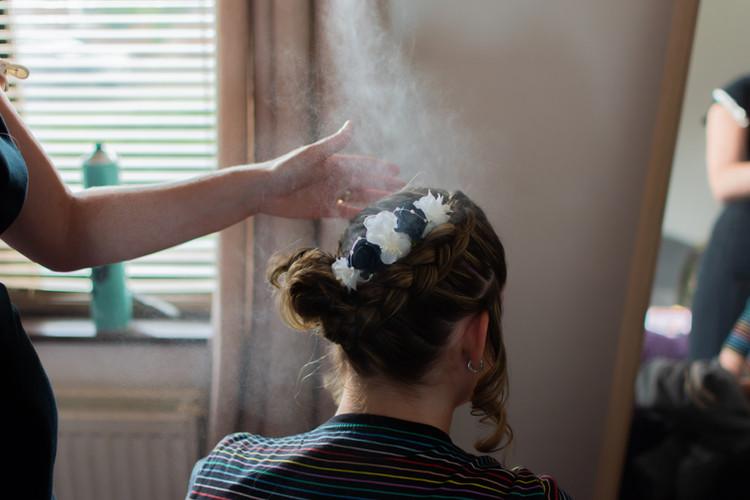 Hairspray at the ready