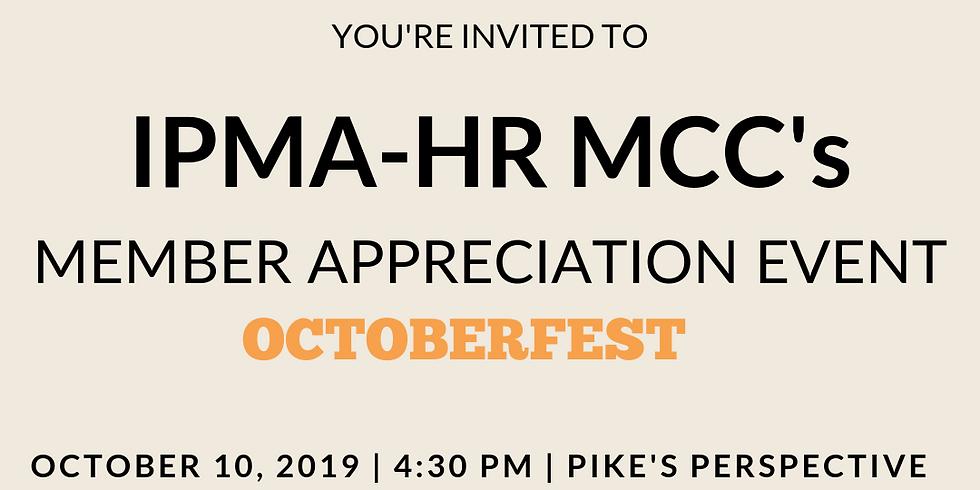 IPMA-HR MCC's Member Appreciation Event - Octoberfest!