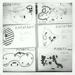 Instagram - First project of the semester! #figureground #artistry #modernorgani