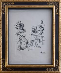 Der affige Maler