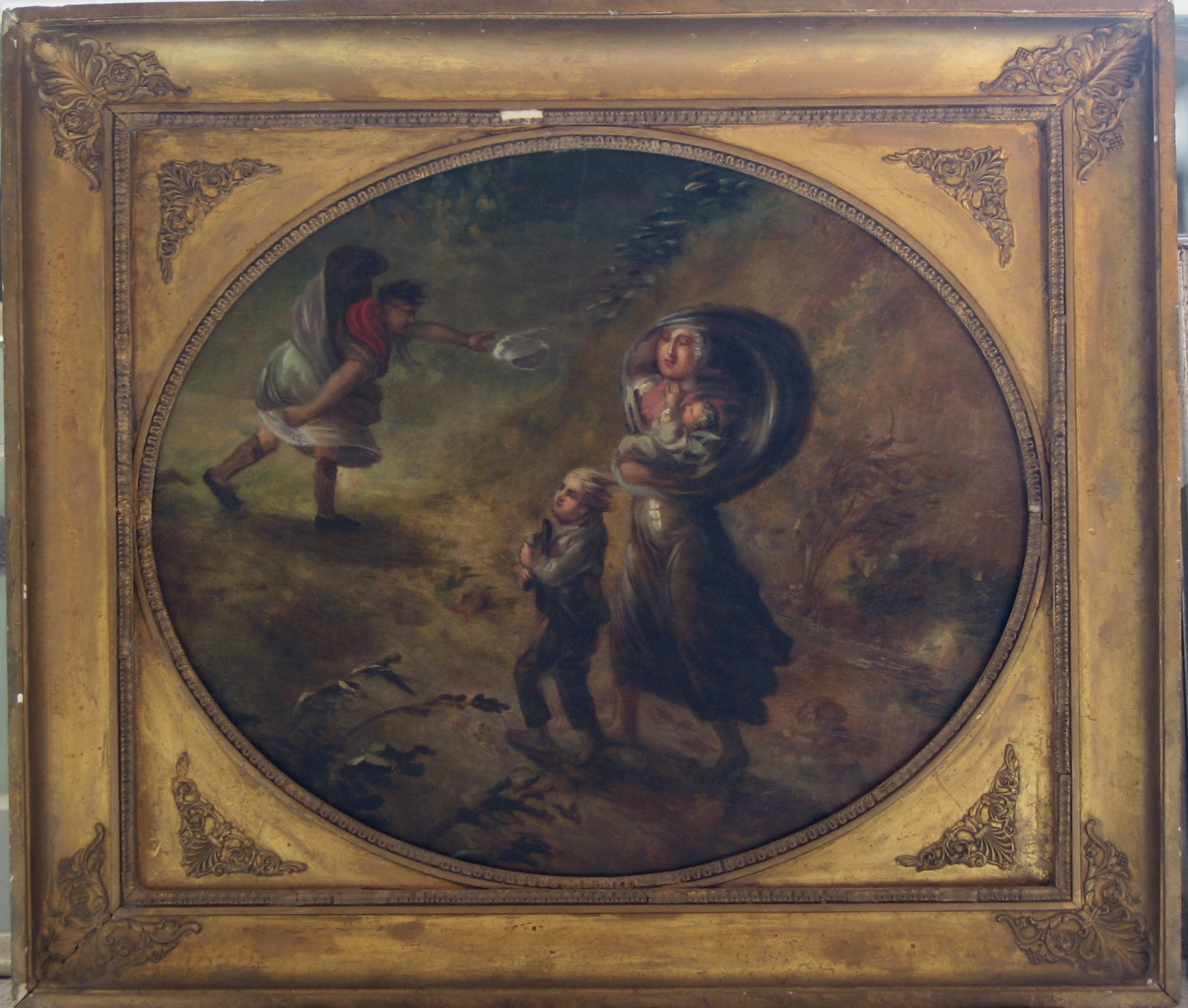 Malerei auf Leder 18. Jh.