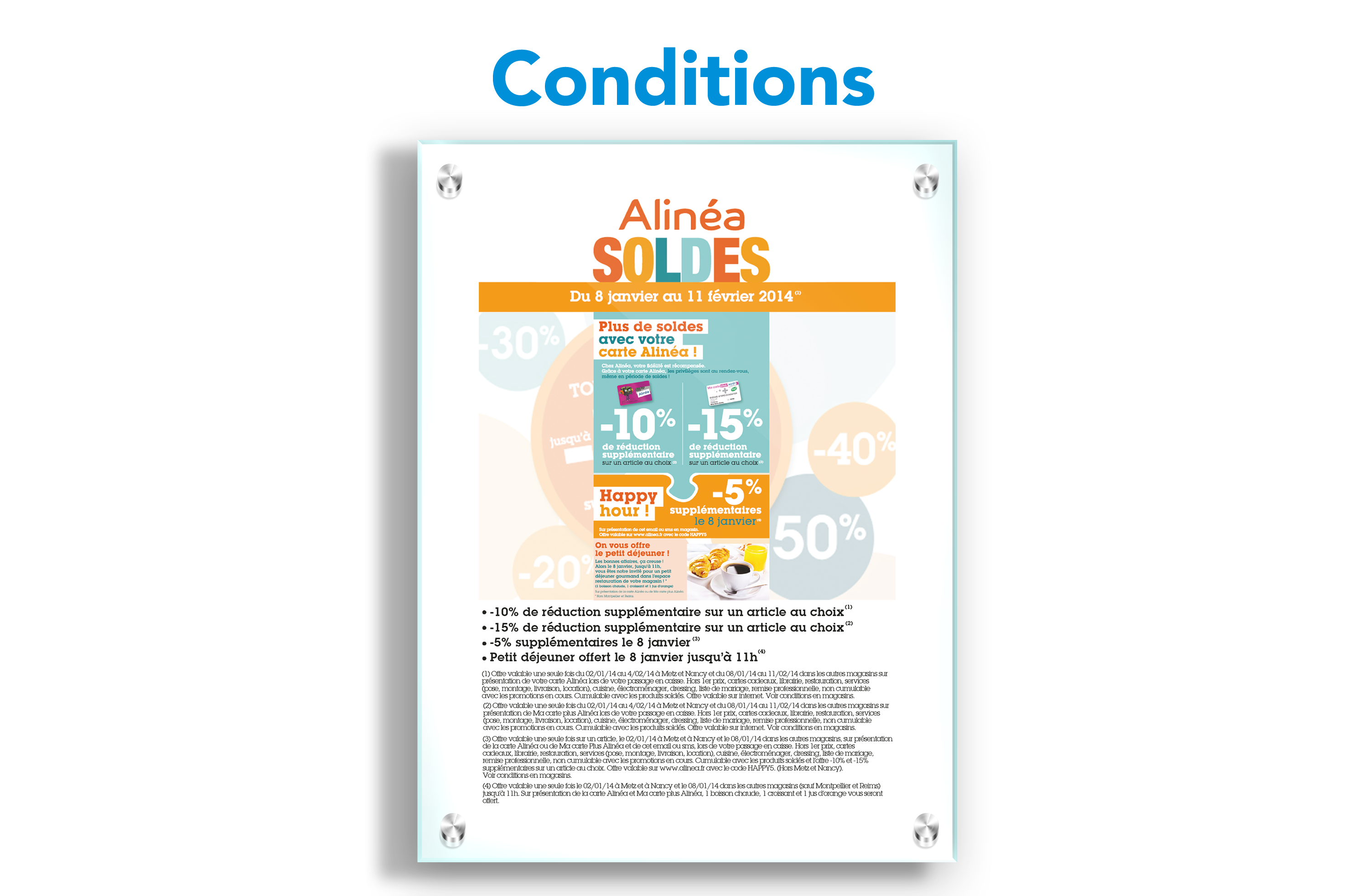 Affichages des conditions