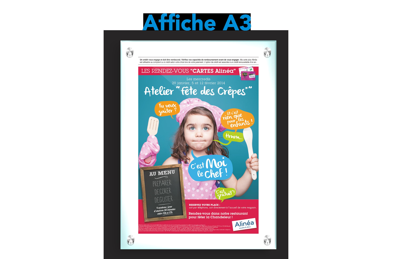 Affiche A3 Chandeleur Alinea